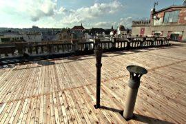 Крышу дворца Люцерна в Праге на неделю открыли для посетителей