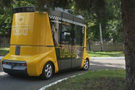 Беспилотное такси «Матрёшку» показали в Москве
