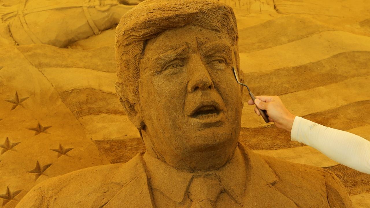 Песчаные скульптуры в Японии посвятили истории и культуре США
