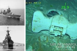 Первые кадры «Индианаполиса», лежащего на дне Тихого океана