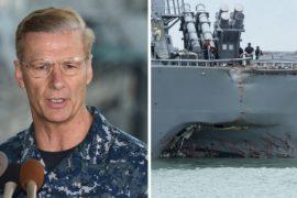 Вице-адмирала 7-го флота США уволили из-за столкновения «Джона Маккейна»