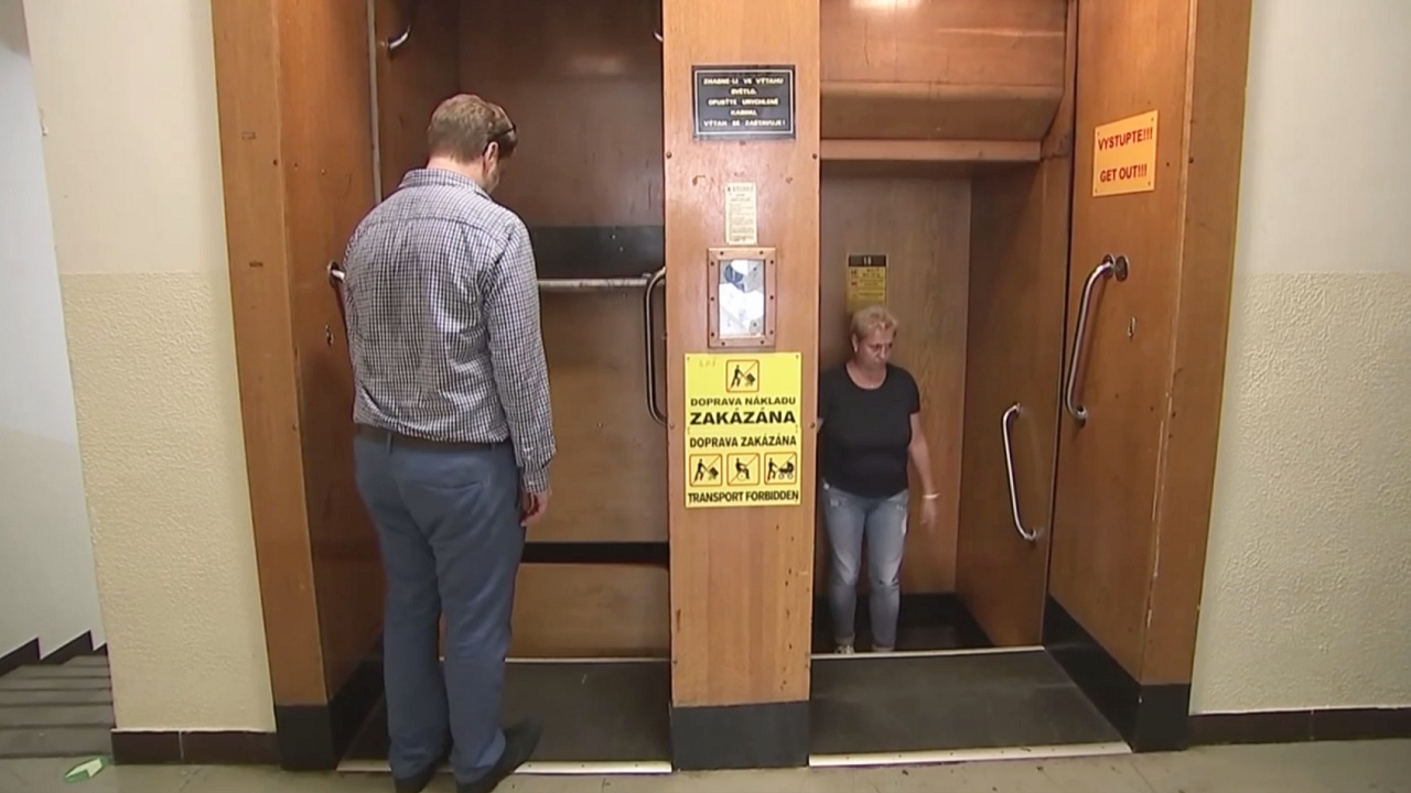 Лифты непрерывного действия до сих пор работают в Чехии