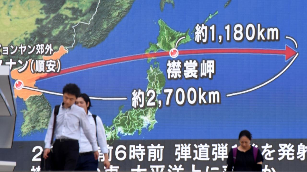 Япония осудила запуск Пхеньяном ракеты в сторону Хоккайдо