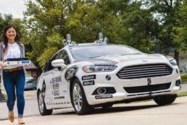 Ford протестирует доставку пиццы на беспилотном авто