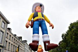 Парад воздушных шаров в виде героев комиксов прошёл в Брюсселе