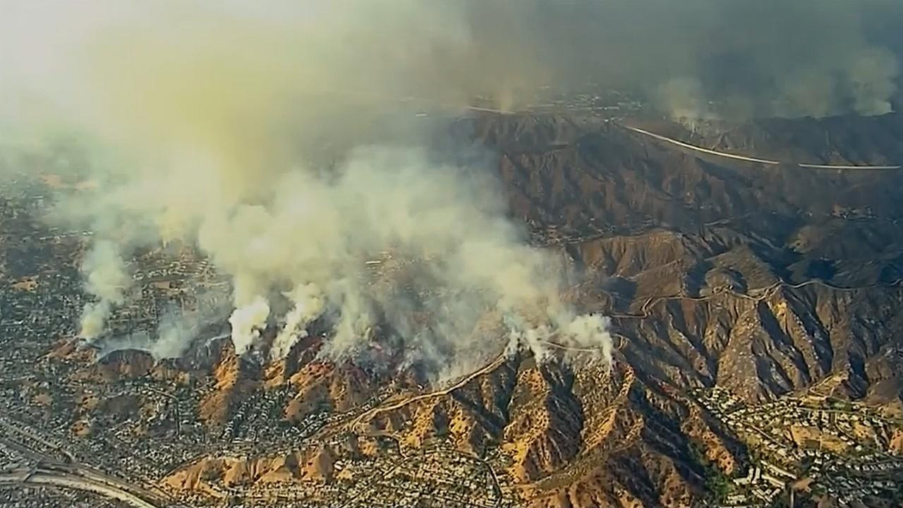 В Лос-Анджелесе тушат сильнейший лесной пожар