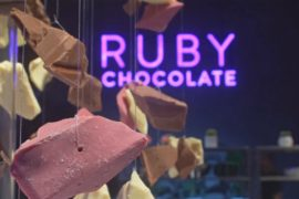 Создали новый вид шоколада – рубиновый