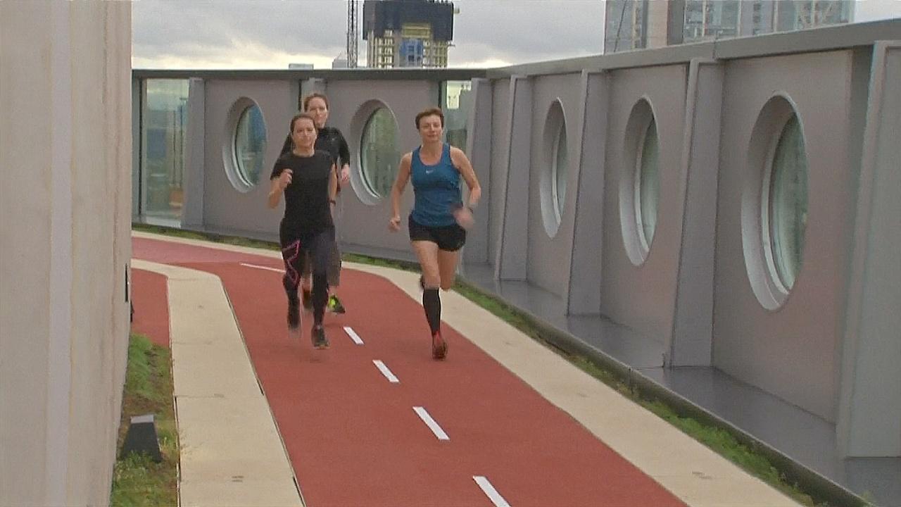 Бег на высоте: в Лондоне сделали спортивную дорожку наверху здания