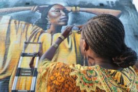 Граффити в Лондоне рассказывают о необычных чернокожих женщинах