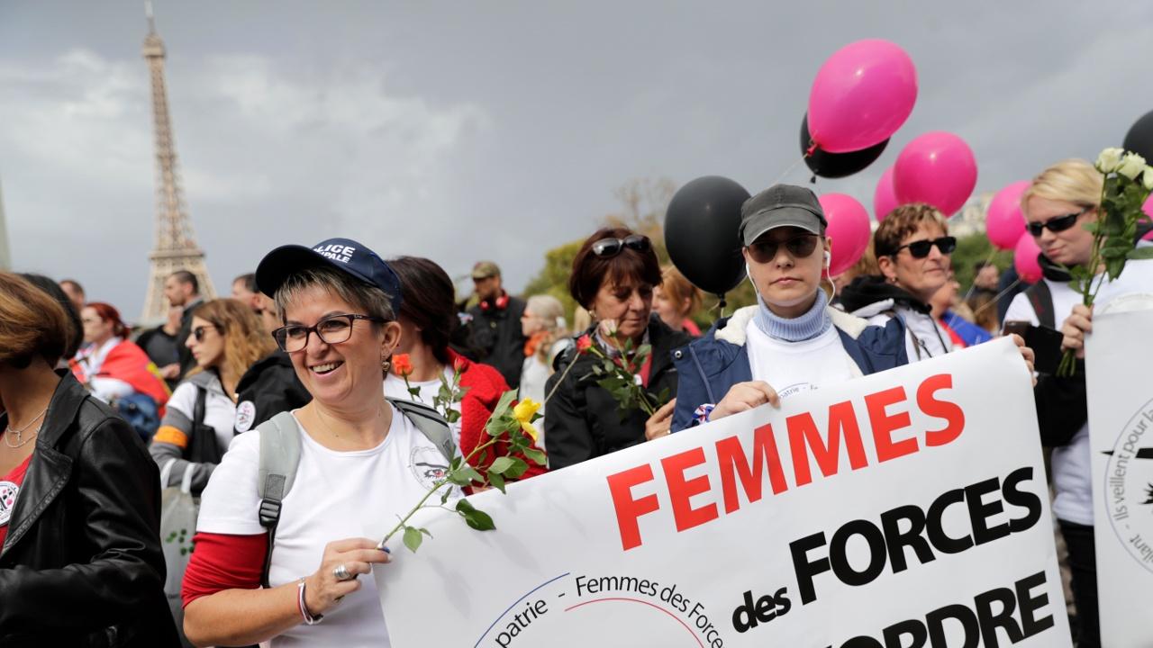 В Париже протестовали полицейские