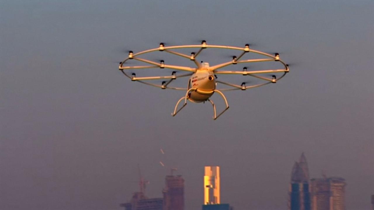 Дубай откроет первую в мире службу воздушного беспилотного такси