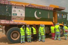 Пакистанские женщины учатся на водителей самосвалов