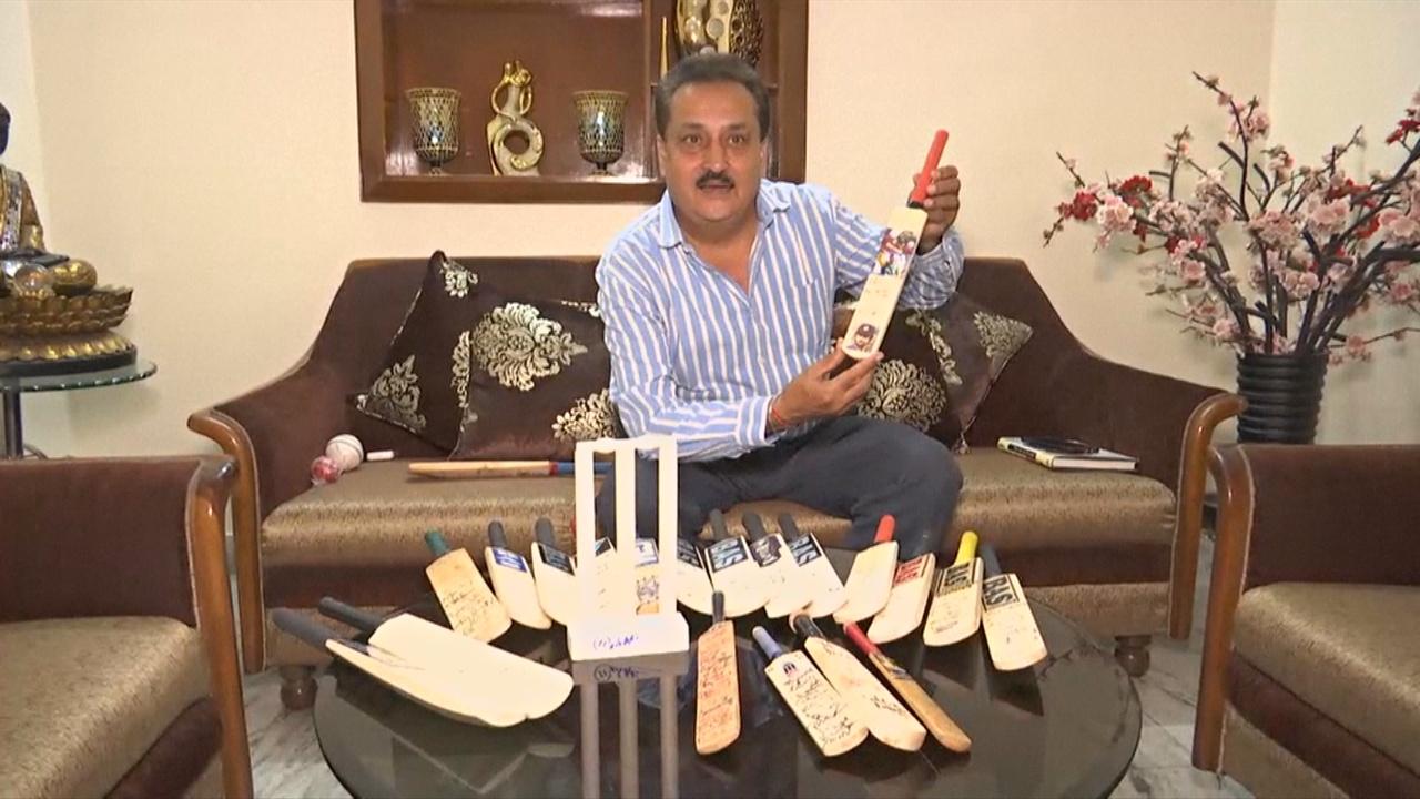 Индиец собрал более 500 бит с автографами лучших игроков в крикет