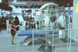 Олимпийский чемпион сыграл в настольный теннис с роботом