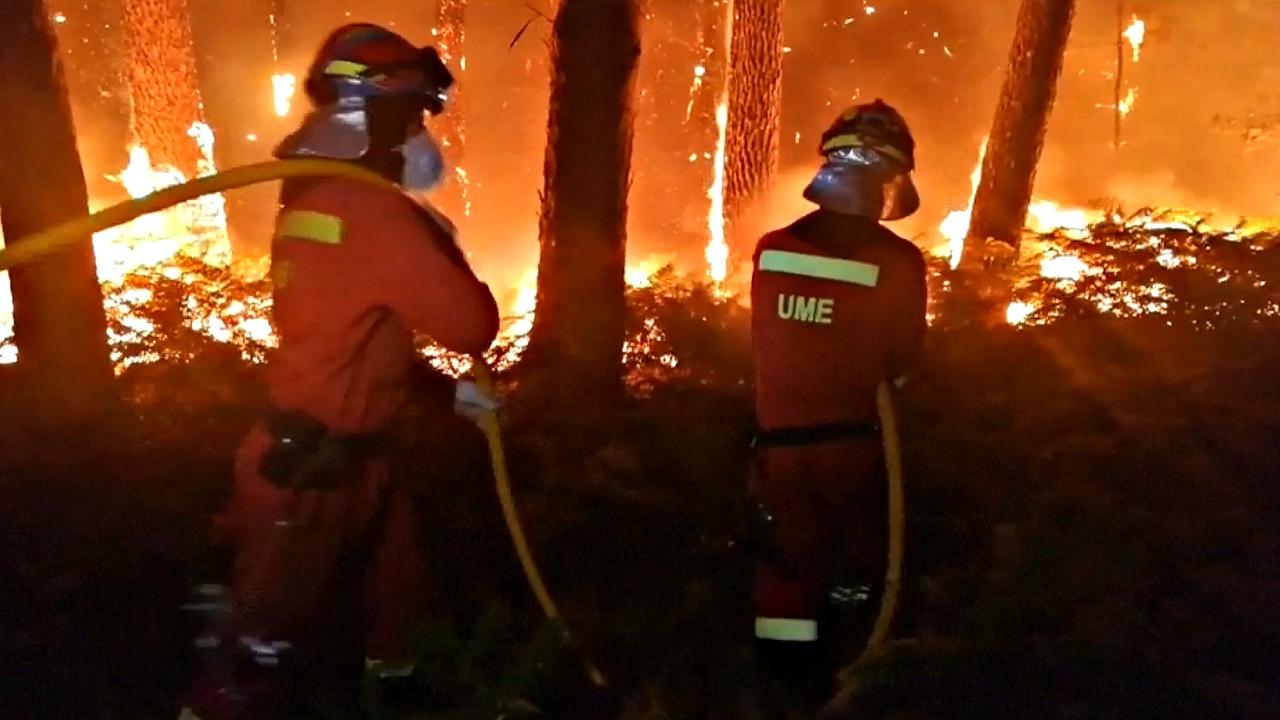 Лесные пожары в Галисии: есть жертвы
