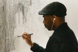 Художник-аутист нарисовал Нью-Йорк по памяти