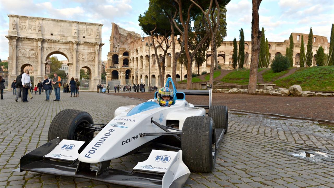 Электромобили в Риме: презентация трассы Формулы-Е