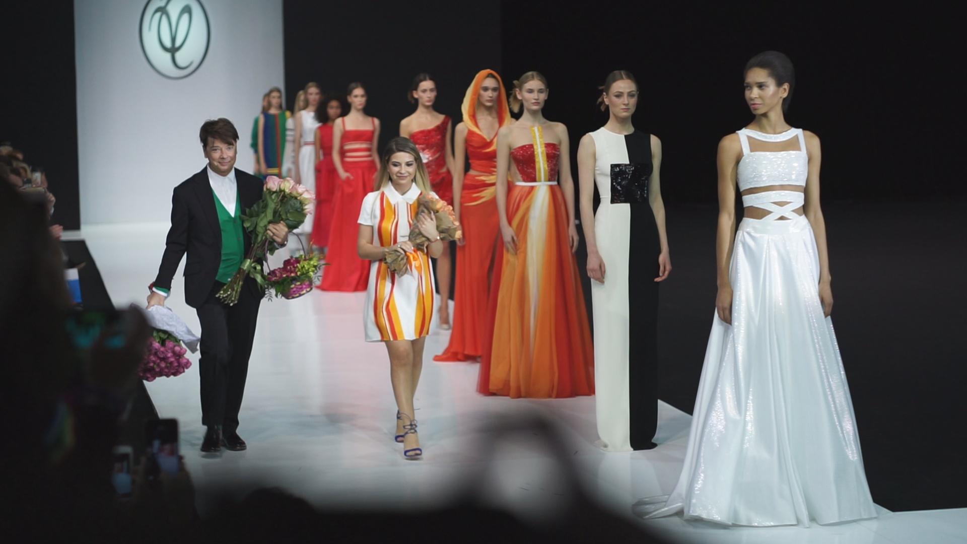 Юдашкин и Андреянова представили коллекции на Неделе моды в Москве