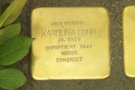 Во Франкфурте в память о жертвах Холокоста установили таблички