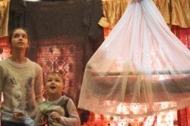 Кочевые дома чукчей и башкир на этнографическом фестивале в Москве