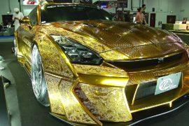Nissan GT-R с «золотым» кузовом представили на Dubai Motorshow