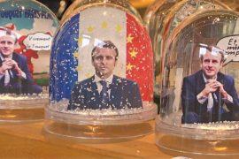 Снежные шары с Макроном — популярнейшие сувениры во Франции