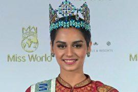 Мисс Мира 2017 индианка Мануши Чхиллар выступила на пресс-конференции