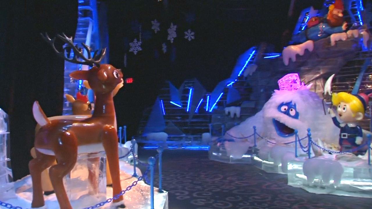 900 тонн льда использовали на создание зимней сказки в США