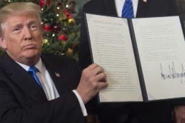 Дональд Трамп подписал документ о признании Иерусалима столицей Израиля