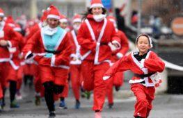 Как Санта-Клаусы бегали по Европе ради благотворительности