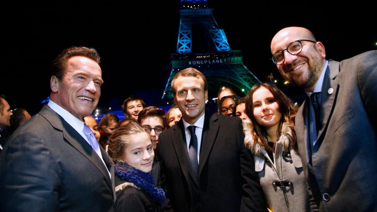Макрон, Шварценеггер и другие обсудили в Париже изменение климата