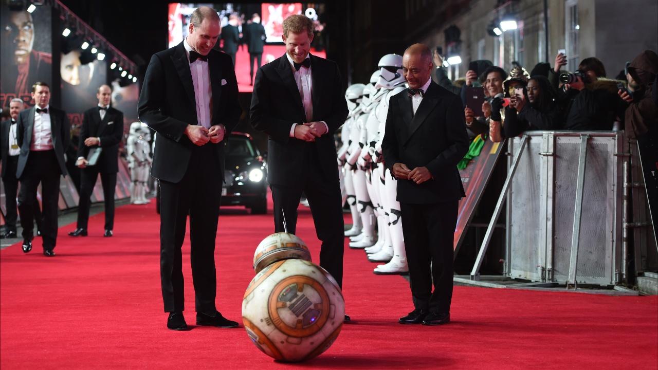 Премьеру «Звёздных войн» посетили британские принцы