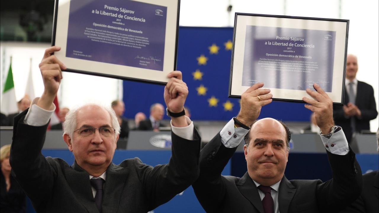 Европарламент вручил премию имени Сахарова венесуэльским оппозиционерам