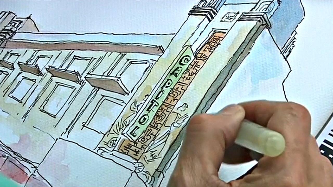 Художники рисуют исторические здания Манилы, чтобы их спасти