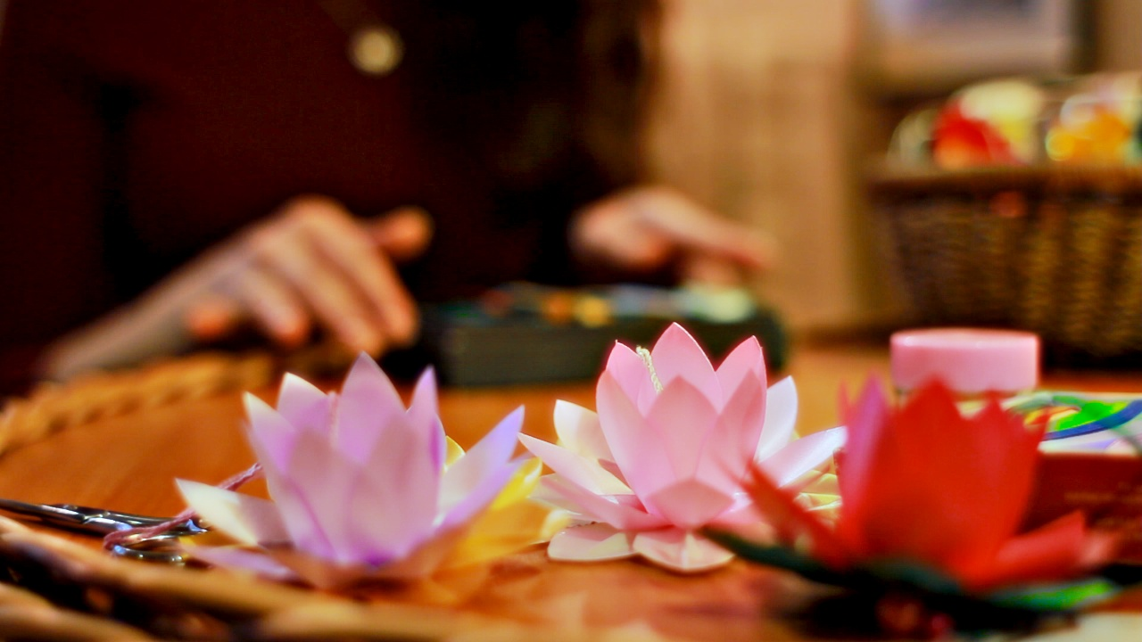Бумажные лотосы – людям: 10 тысяч цветков своими руками