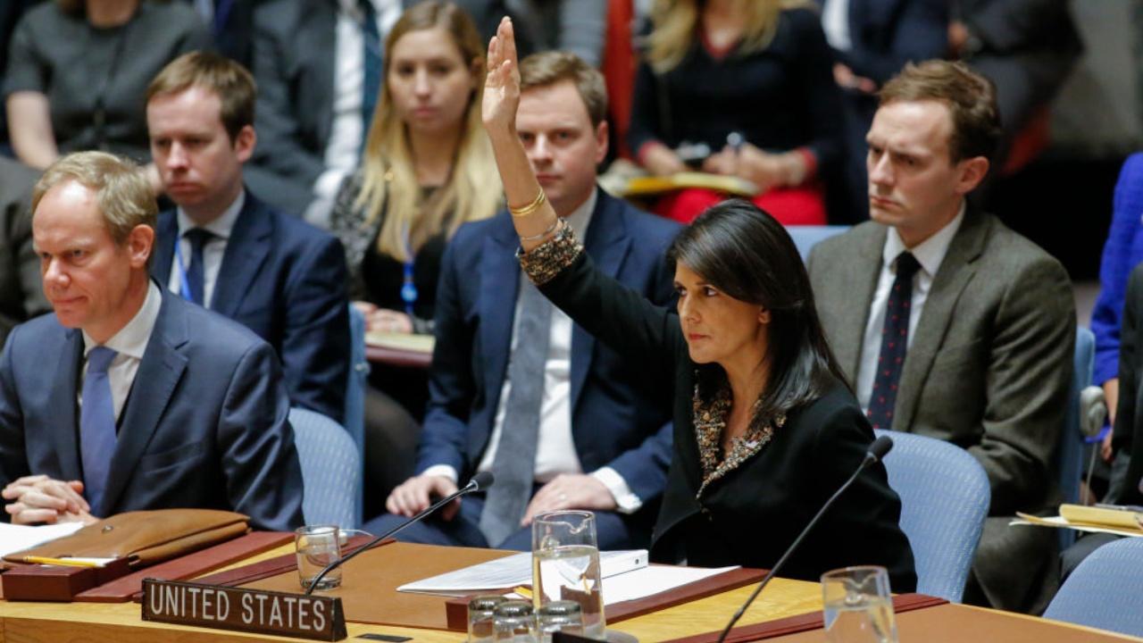 США наложили вето на резолюцию, осуждающую признание Иерусалима столицей