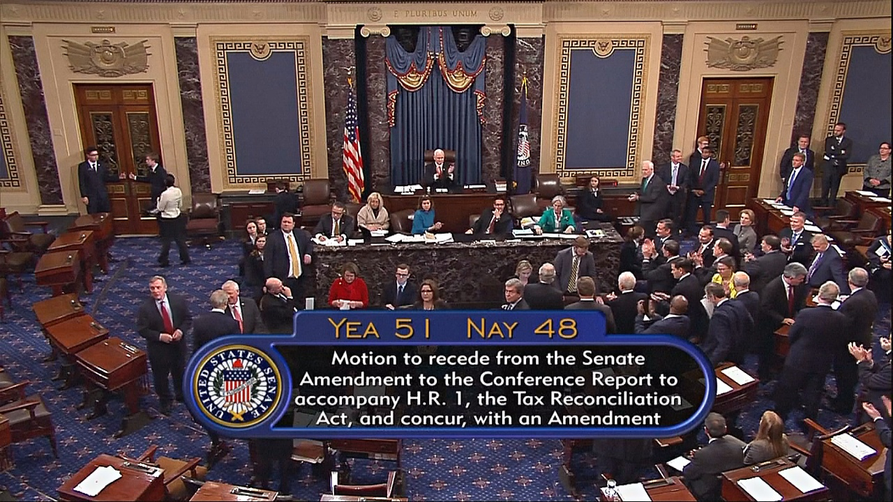 Сенат США утвердил масштабную налоговую реформу