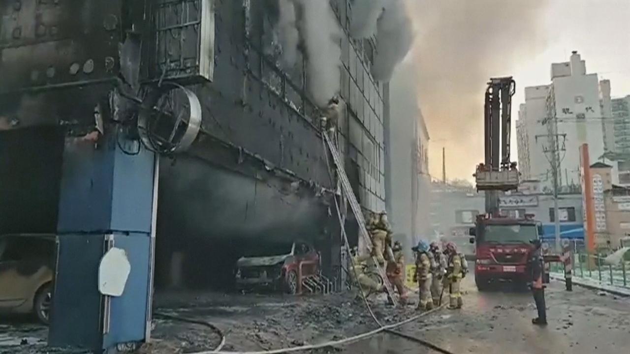 Пожар в центре досуга в Южной Корее: 29 погибших