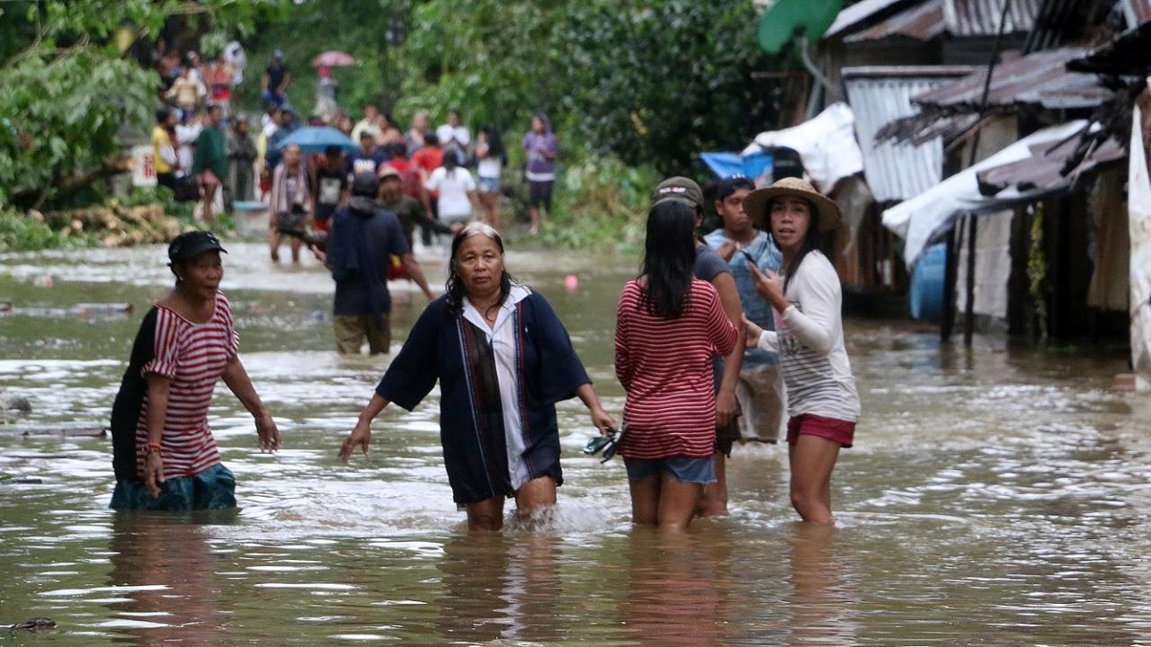 Тайфун «Тембин» обрушился на Вьетнам