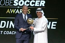 Криштиану Роналду и Зинедин Зидан выиграли премию Globe Soccer Awards