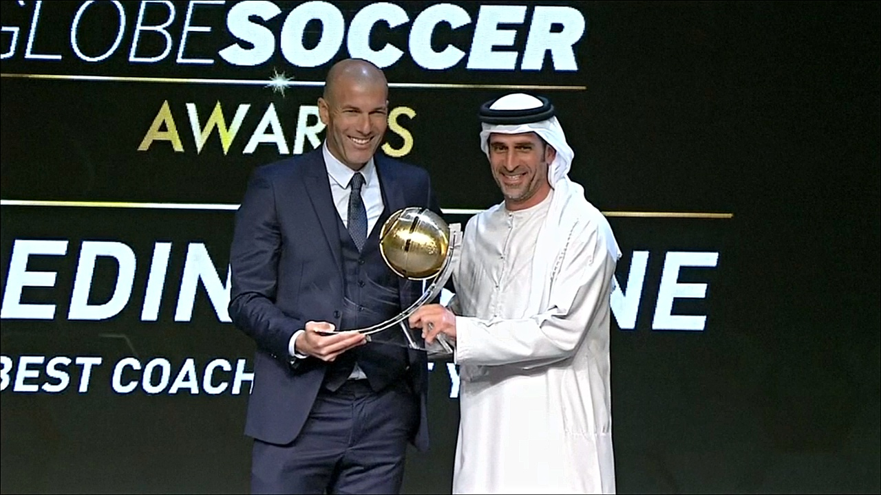 Криштиану Роналду и Зинедин Зидан выиграли премию Globe Soccer Awards