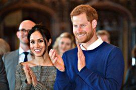 Принц Гарри и Меган Маркл посетили средневековый замок Кардифф