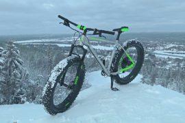 Посмотреть леса Лапландии предлагают на зимних велосипедах