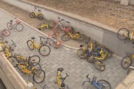 Брошенные велосипеды заполоняют улицы китайских городов