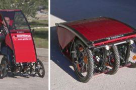 Босниец изобрёл складывающийся до размера чемодана автомобильчик