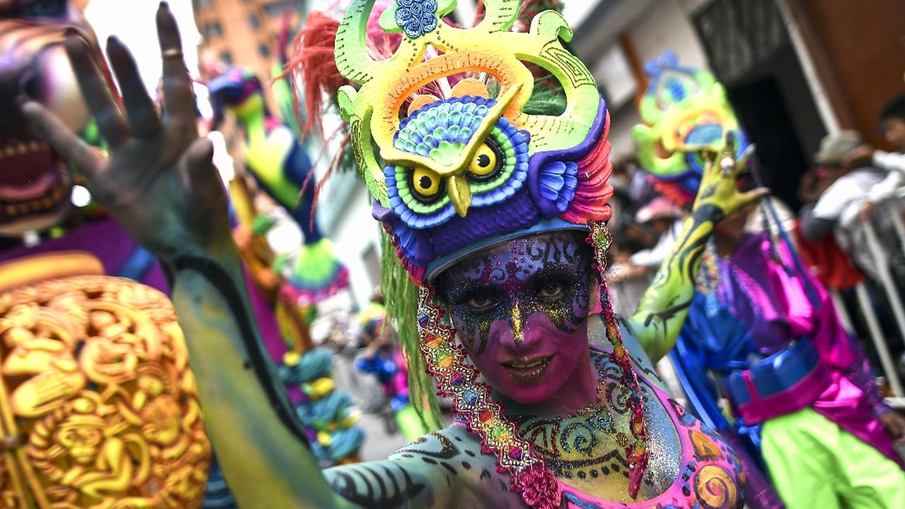 Карнавал Чёрных и Белых собрал в колумбийском городке тысячи человек