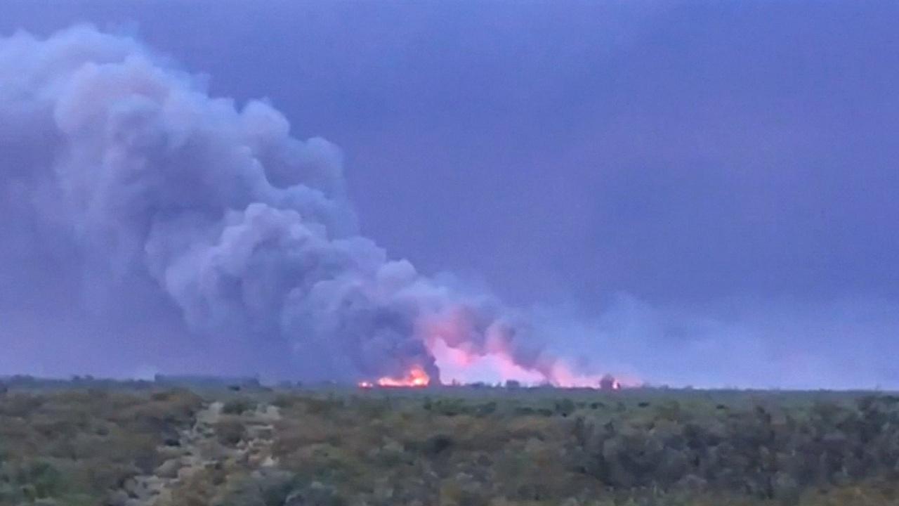 Западно-центральную Аргентину охватывают пожары