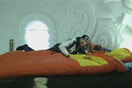 Провести ночь в снежном отеле-иглу предлагают на горнолыжном курорте в Сочи