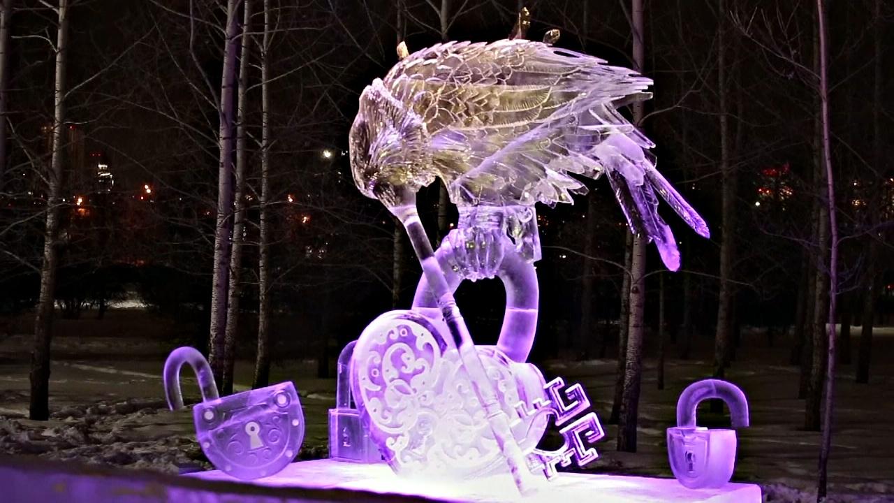 Скульптуры из снега и льда: как в Красноярске состязались мастера из Европы и Азии
