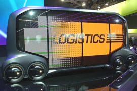 Трёхколёсный электрокар и автобус-беспилотник на выставке CES
